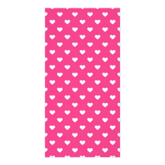 Cute Pink Hearts Pattern Card