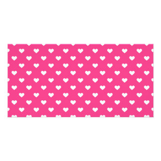 Cute Pink Hearts Pattern Card