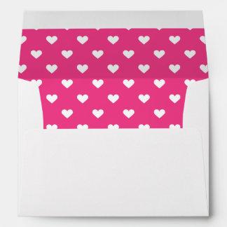 Cute Pink Hearts Pattern Envelope