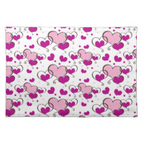 cute pink hearts placemats