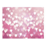Cute Pink Hearts Postcards