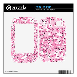 Cute Pink Hearts Skins For Palm Pre Plus