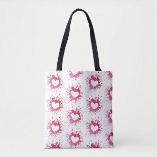 Cute Pink Hearts Tote Bag