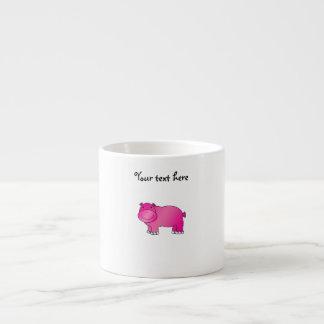 Cute pink hippo 6 oz ceramic espresso cup