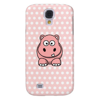 Cute Pink Hippo Galaxy S4 Cover