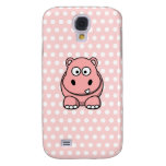 Cute Pink Hippo Samsung Galaxy S4 Covers
