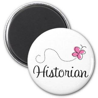 Cute Pink Historian 2 Inch Round Magnet