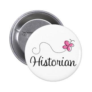 Cute Pink Historian Pinback Buttons