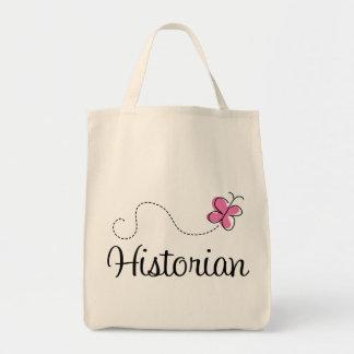 Cute Pink Historian Tote Bag