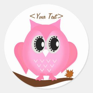 Cute Pink Hoot Owl Sticker