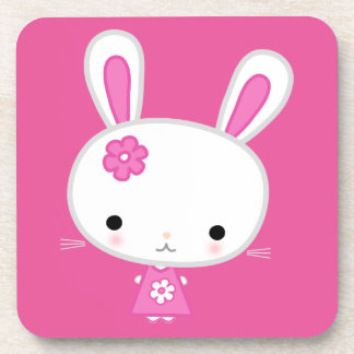 Cute Pink Kawaii Bunny Coaster