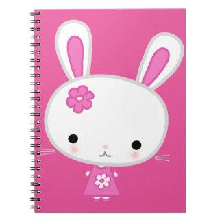 Cute Pink Kawaii Bunny Notebook