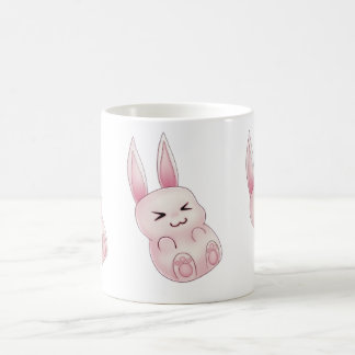 Cute pink Kawaii Bunny rabbit falling from stars Coffee Mug