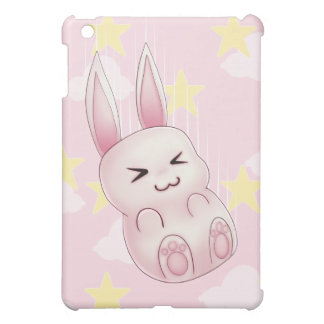 Cute pink Kawaii Bunny rabbit falling from stars iPad Mini Cover