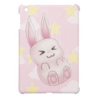 Cute pink Kawaii Bunny rabbit falling from stars iPad Mini Cover