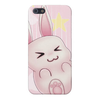 Cute pink Kawaii Bunny rabbit falling from stars iPhone 5 Cover