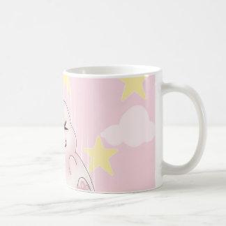 Cute pink Kawaii Bunny rabbit falling from stars Coffee Mugs