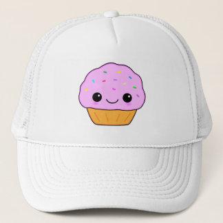 Cute Pink Kawaii Cartoon Cupcake Trucker Hat