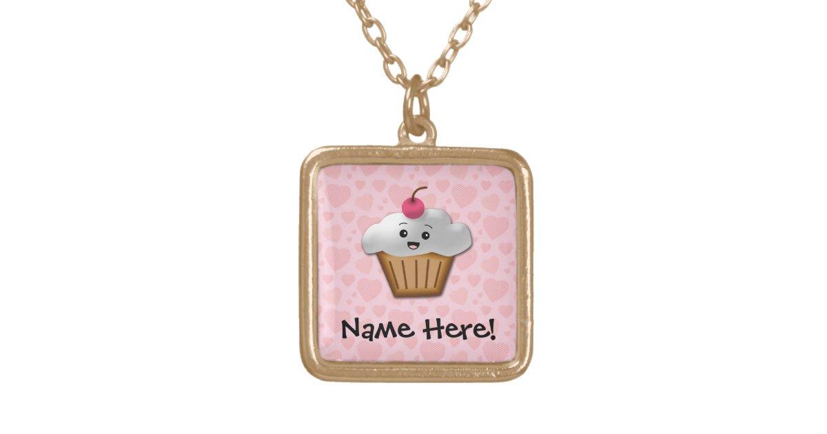 Cupcake pendant in Kawaii style