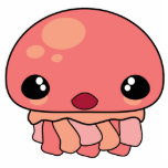 Cute Pink Kawaii Jellyfish Character Cut Outs