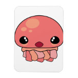 Cute Pink Kawaii Jellyfish Character Magnet