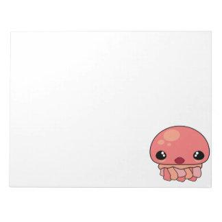 Cute Pink Kawaii Jellyfish Character Memo Note Pad