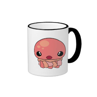 Cute Pink Kawaii Jellyfish Character Mug