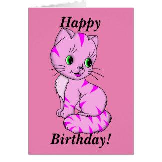 Cute Pink Kitten Card