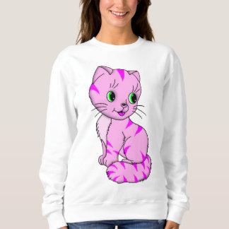 Cute Pink Kitten Sweatshirt