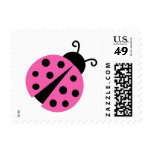 Cute pink ladybug decoration stamps