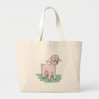cute pink lamb canvas bags