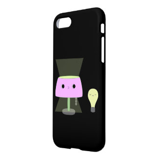 Cute pink lamp and lightbulb iPhone case