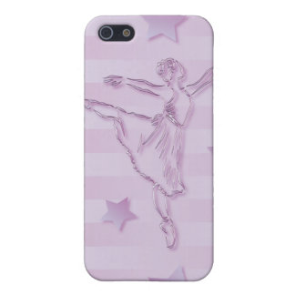 Cute pink lilac ballerina and stars iPhone 5 case