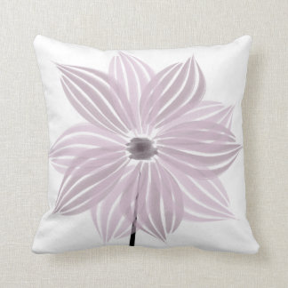 Cute Pink Lilac Floral Watercolor Pillow