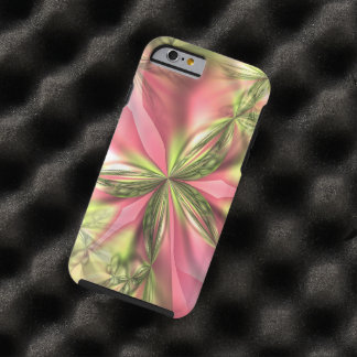 Cute Pink Lime Green Butterfly Fractals Patterns Tough iPhone 6 Case