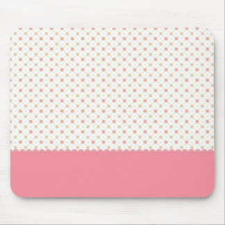 Cute pink little flowers with pink stripe mouse pad