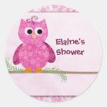 Cute Pink Little Owl Sticker
