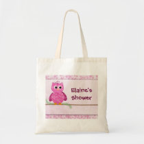 Cute Pink Little Owl Tote Bag