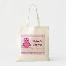 Cute Pink Little Owl Tote Bag