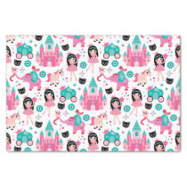 Cute Pink Little Princess Unicorn Magical Pattern Tissue Paper