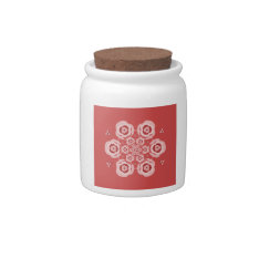 Cute Pink Lotus Flower Meditation Candy Jar at Zazzle