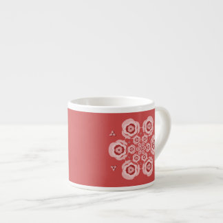 Cute Pink Lotus Flower Meditation Expresso Cup