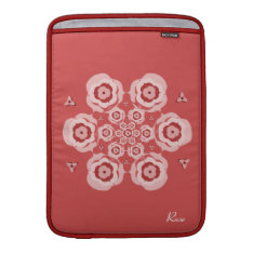 Cute Pink Lotus Flower Meditation Macbook Air 13