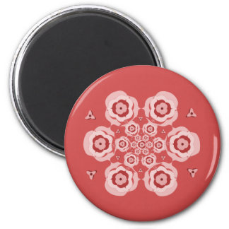 Cute Pink Lotus Flower Meditation Magnet