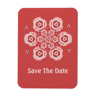Cute Pink Lotus Flower Meditation Save The Date Flexible Magnets