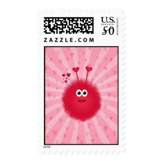 Cute Pink Love Bug Postage