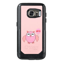 Cute Pink Love You Owl Phone Case