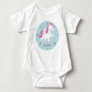 Cute Pink Magical Unicorn Baby Creeper