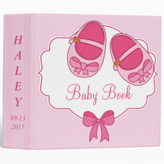 "Cute Pink ""Mary Janes"" New Baby Photo Album Binder"