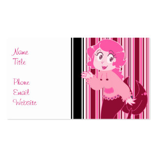 Cute Pink Mermaid Girl Double-Sided Standard Business Cards (Pack Of 100)